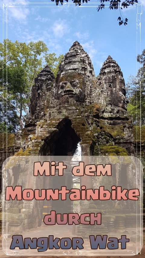 Mit dem Mountainbike durch Angkor Wat